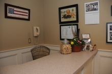Our reception area - where you will be greeted by our friendly staff.
