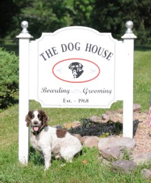 Angus greets his guests at the Dog House Kennel located at 21 Homestead Rd., Pottersville, NJ!