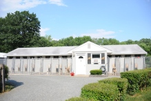 Welcome to the Dog House Kennel! Drive on up to our main office for easy transportation of your furry-tailed friend.