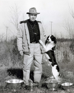 """Ludlovian Bruce of Greenfair"" won International Champion in 1954. Bruce was then known as the youngest dog to win Inernational Champ at only 24 months of age."