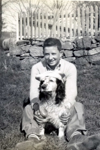 The MacQueen's lived a dedicated life to dogs, and raised their family accordingly so. Larry and Agnes had two sons, Stanley and Jack. In this photo, you meet Stanley, the second generation of dog handlers, and his childhood dog Whitie.