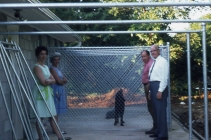 The first client to ever stay at The Dog House Kennel, a Gordon Setter named Duffy. 1969.